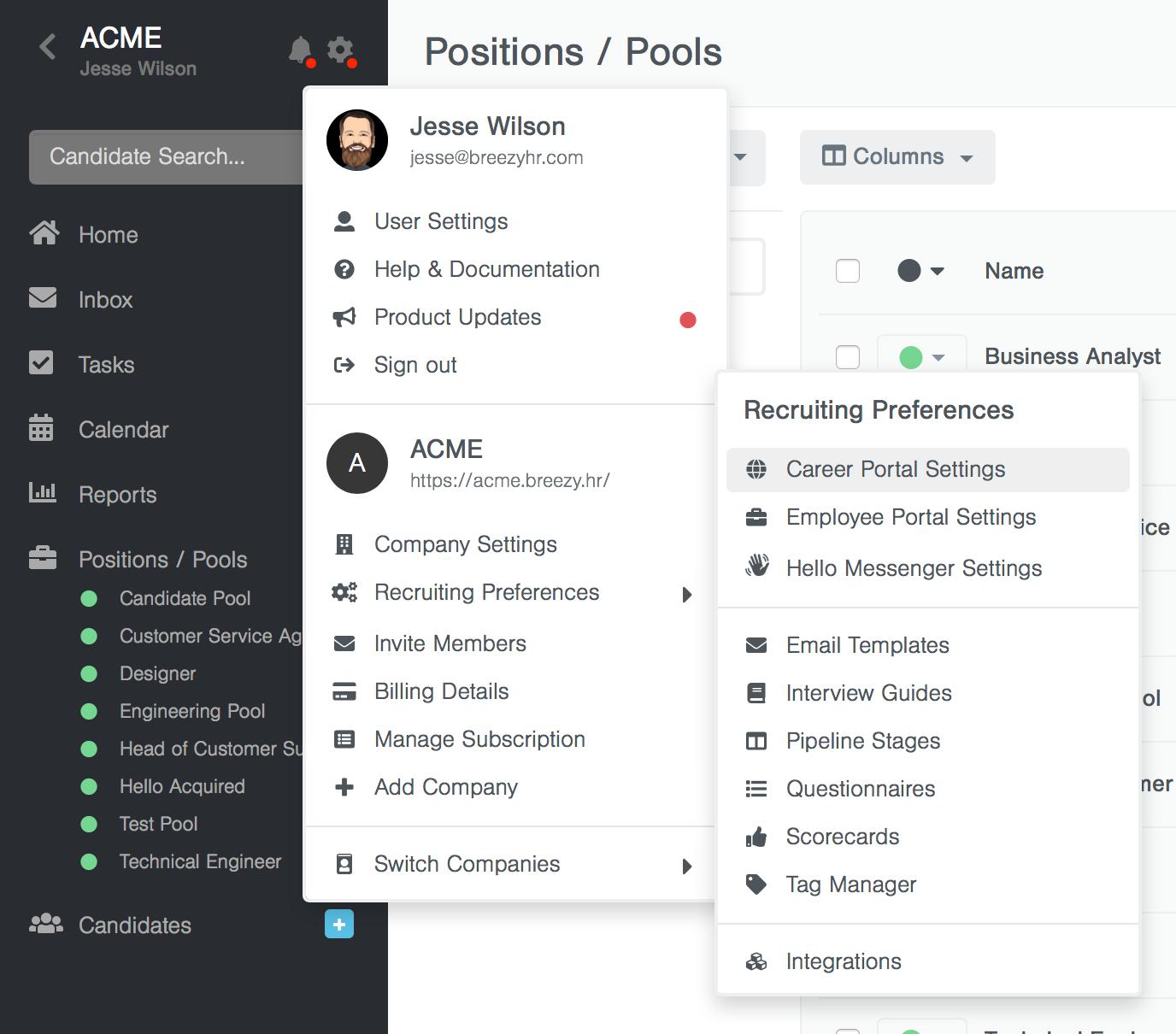 Customizing your Career Portal