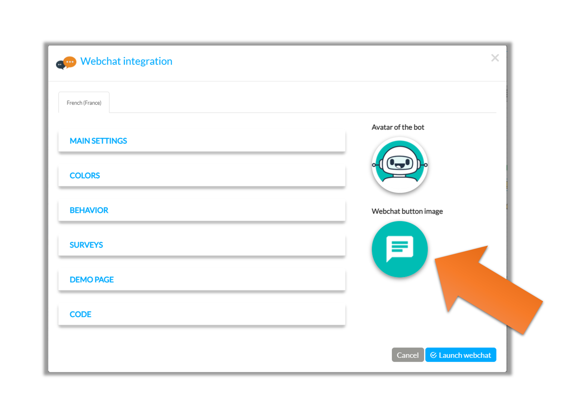 New: Customize your webchat button!