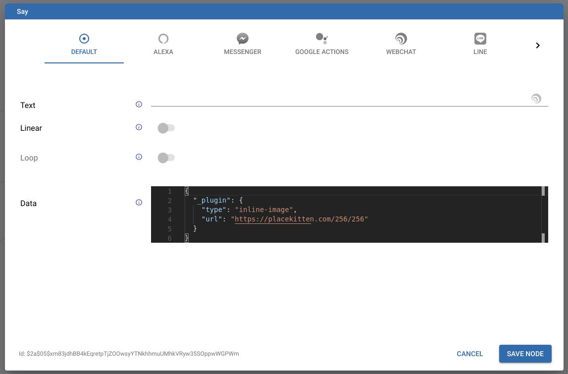 Triggering Webchat Plugins