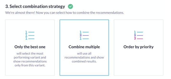 Combination strategies explained visually.