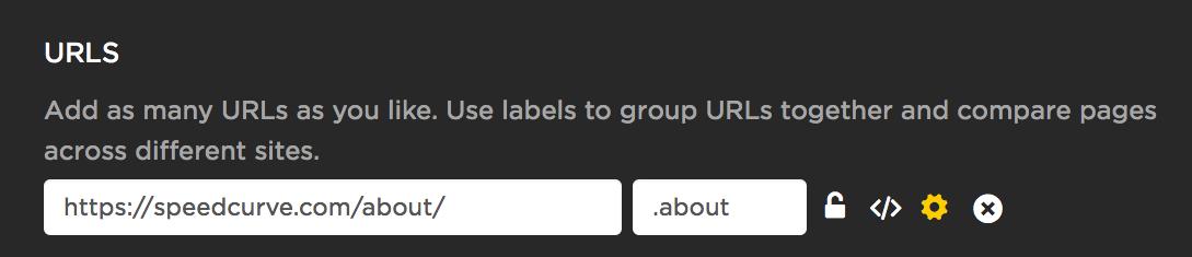 Editing a URLs settings