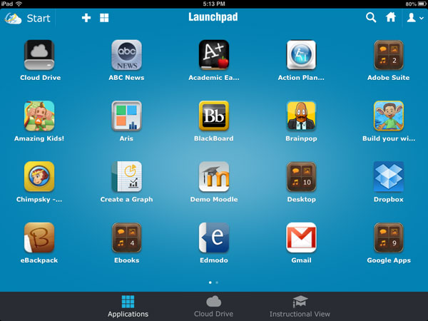 Organizing Apps apps view