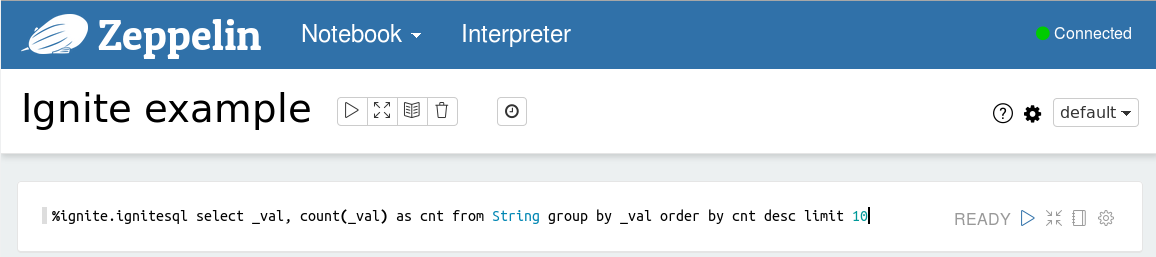 Using Ignite SQL interpreter