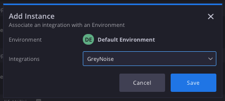 Adding a new Instance of GreyNoise to Siemplify