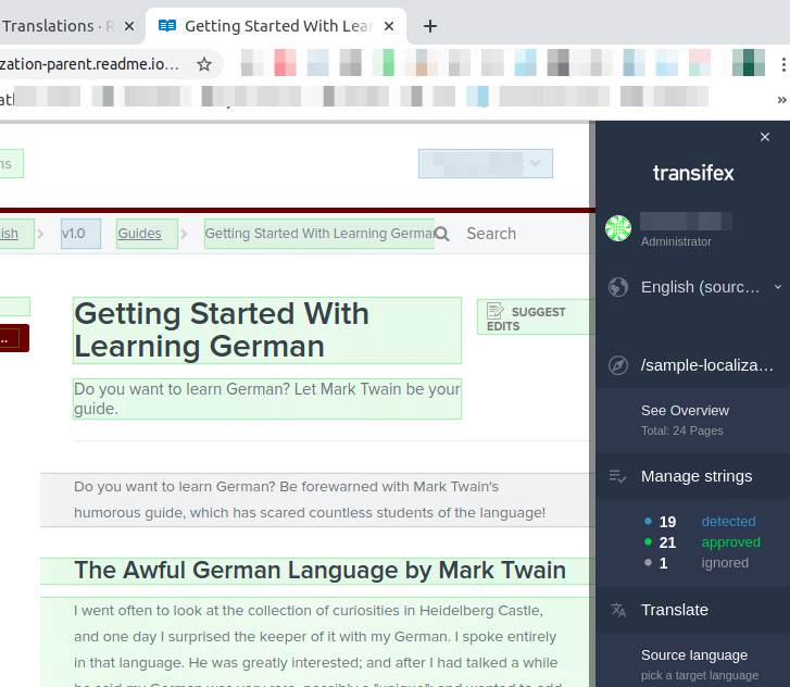 Transifex translation in progress.