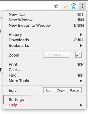 Locating Chrome Browser Settings