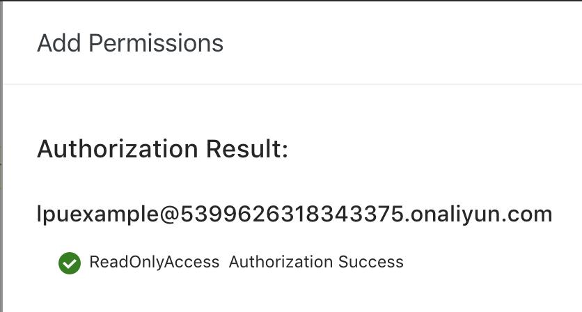 Permissions Success
