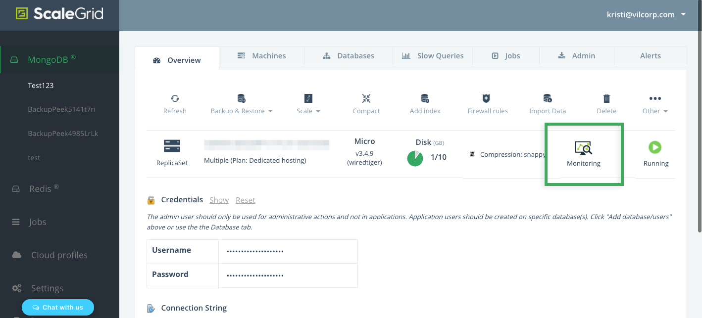 MongoDB Monitoring Console