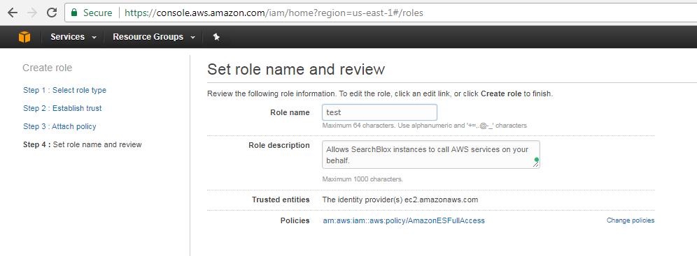 SearchBlox for Amazon Elasticsearch Service