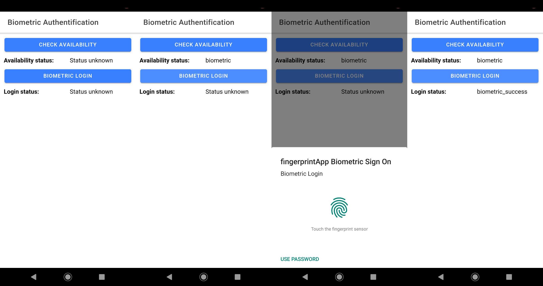 App work on Android, Fingerprint authentication