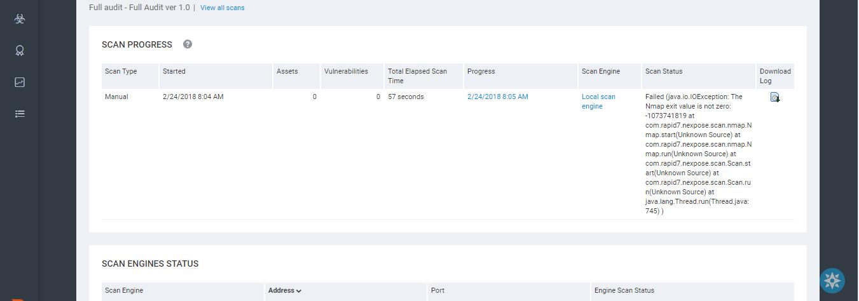 Nexpose: Nmap Issues on Remote Scan Engine [Johann Terc]