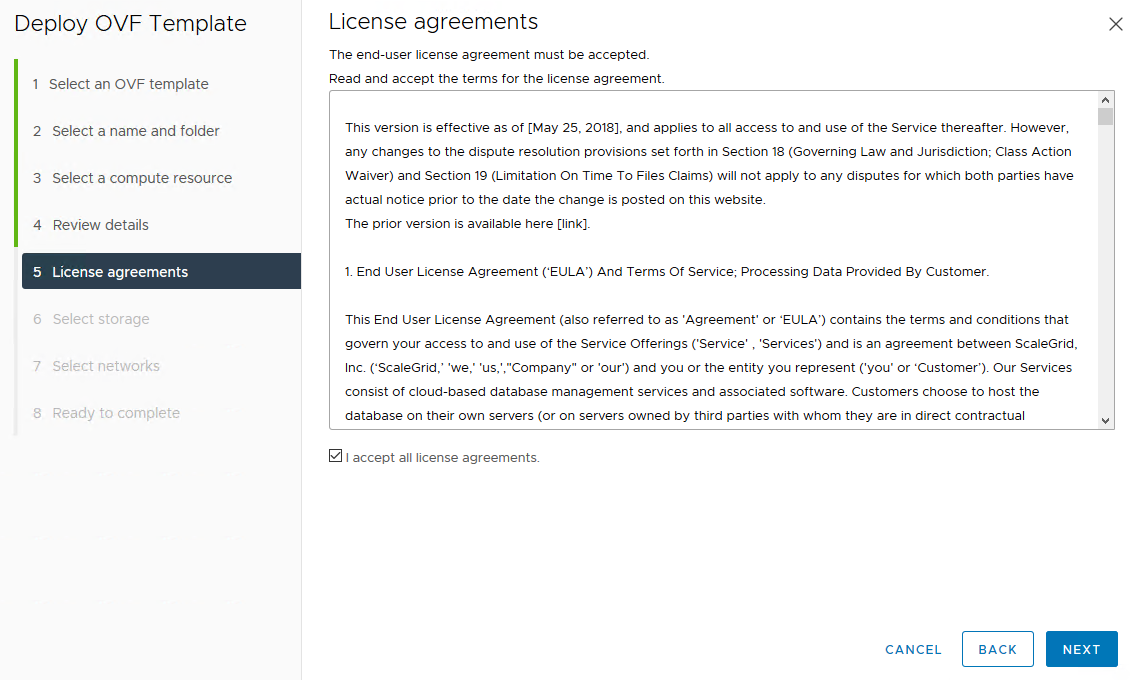 Accept license agreements
