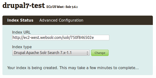 Drupal 7 with the ApacheSolr module · websolr