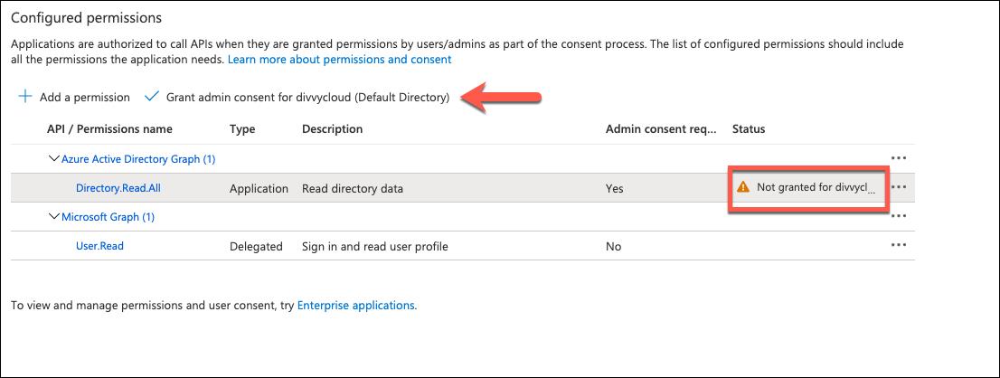 Azure Portal - Grant Permissions