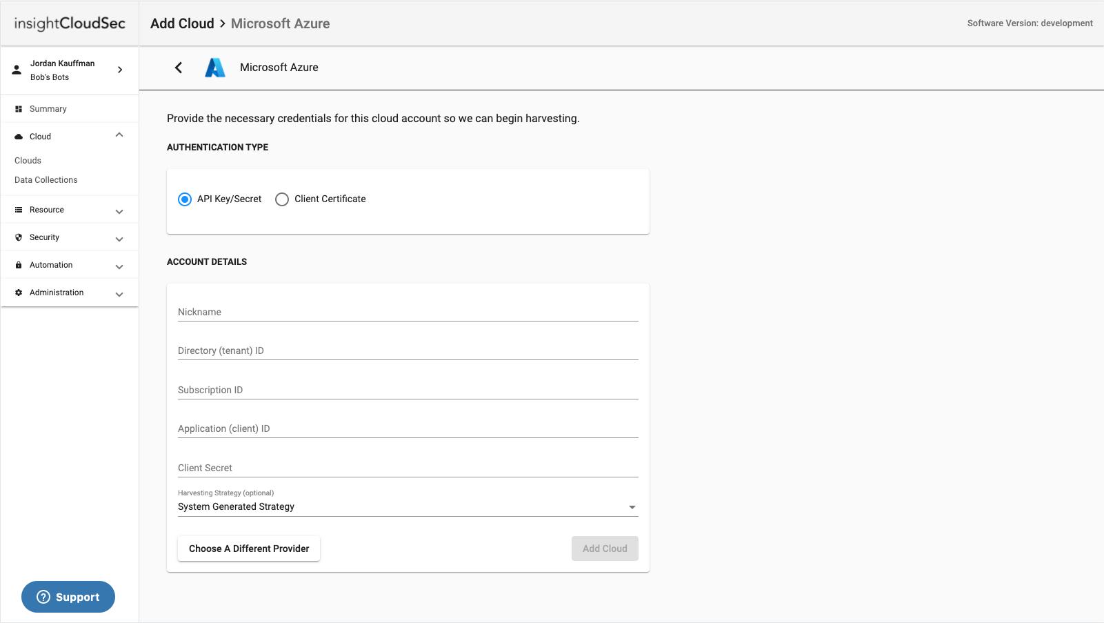 Azure Account Details