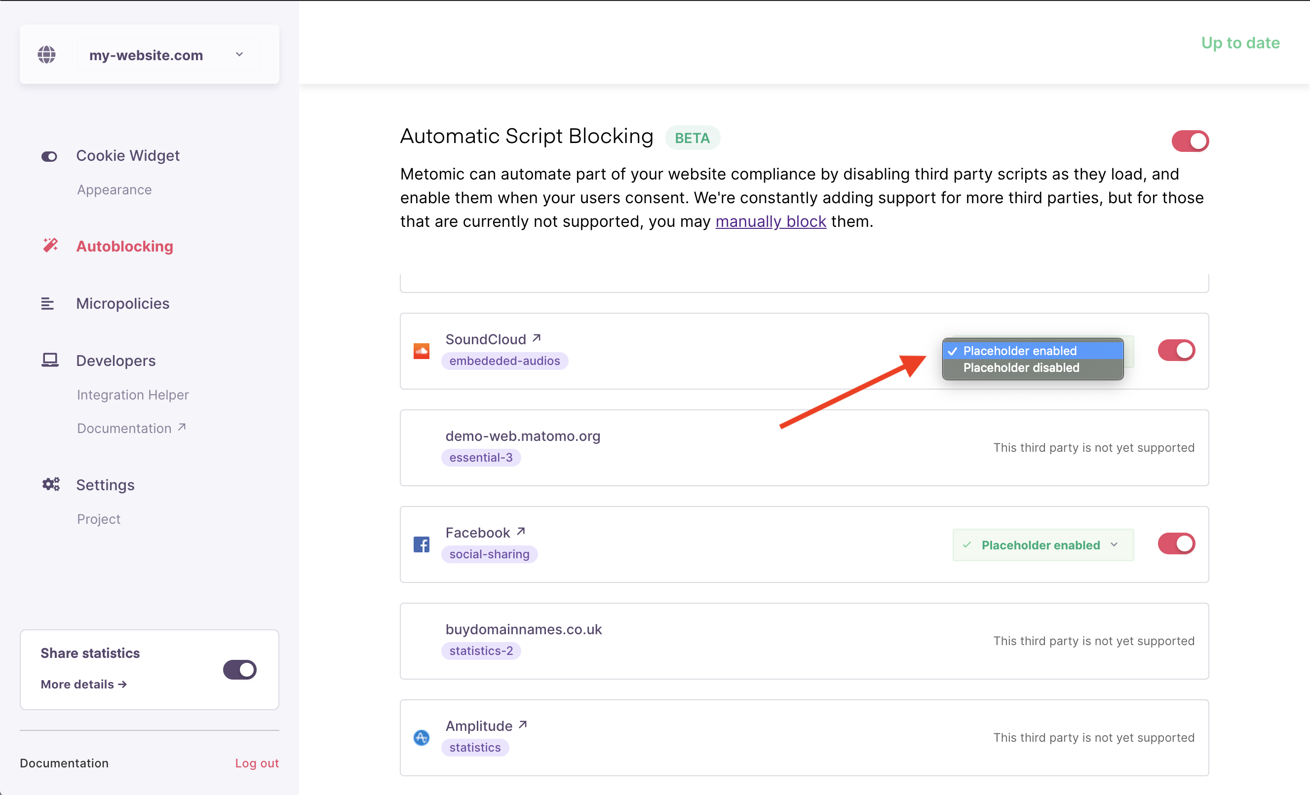 This will enable the Confirmic placeholder for Soundcloud when a soundcloud player is autoblocked.