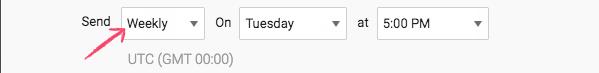 Scheduling weekly Report