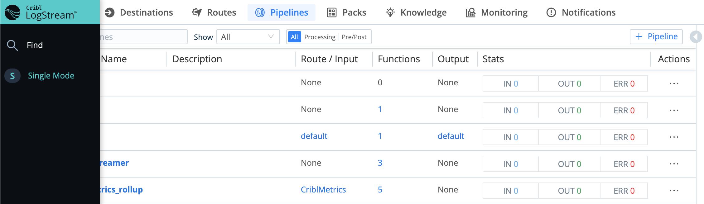 Single-instance deployment: anchored top menu