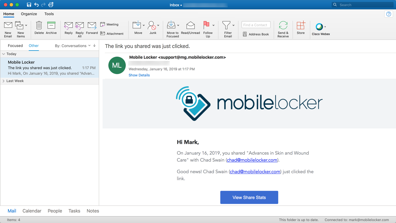 Install and Use Mobile Locker for Outlook