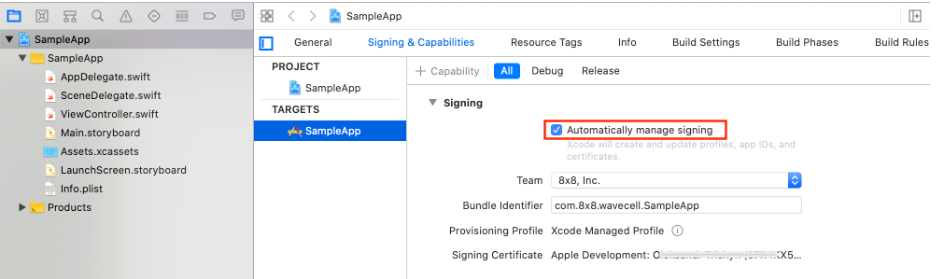Create Xcode Project for SDK Integratino