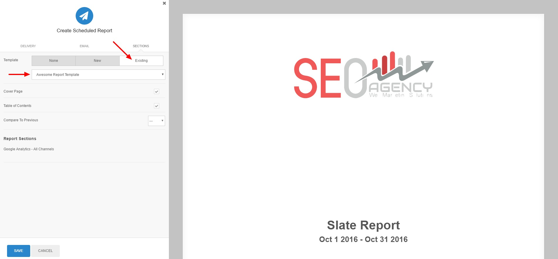 Create report templates – A Report Template