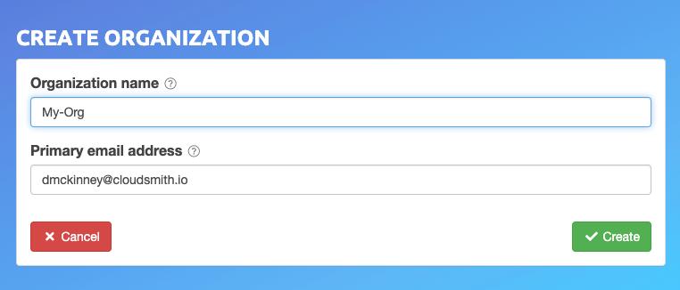 Create Organization Form