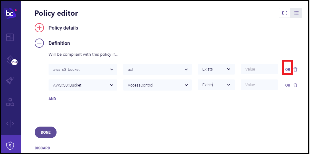 Multi-Rule Policy: OR Example