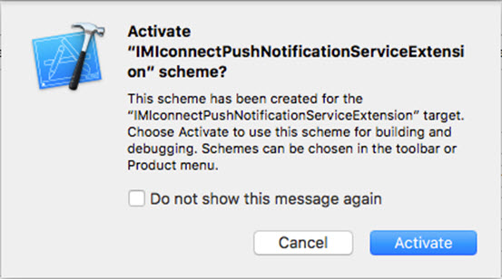 Activate Push Notification Service Extension