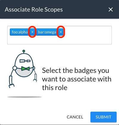 Removing Badges from a User Role