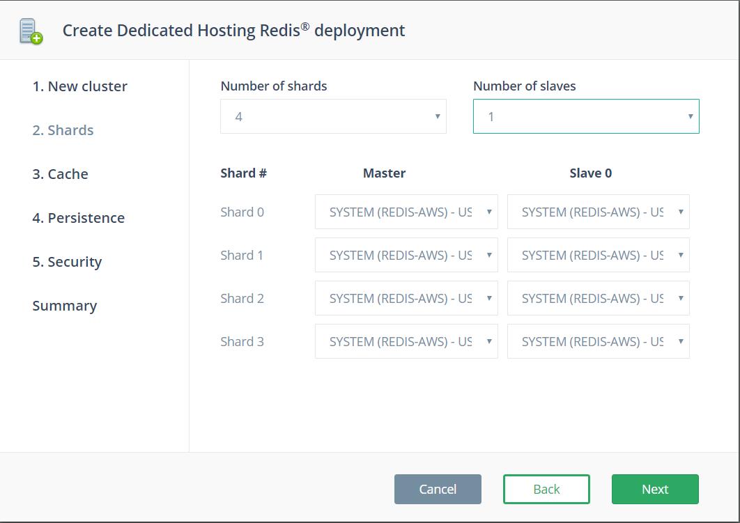 Redis cluster mode sharding options