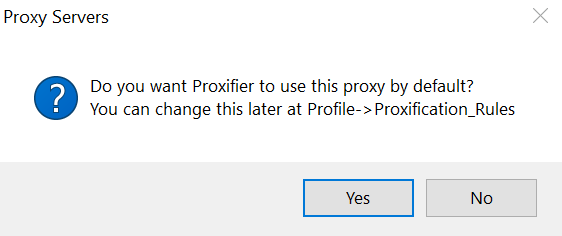 Proxifier use this proxy by default