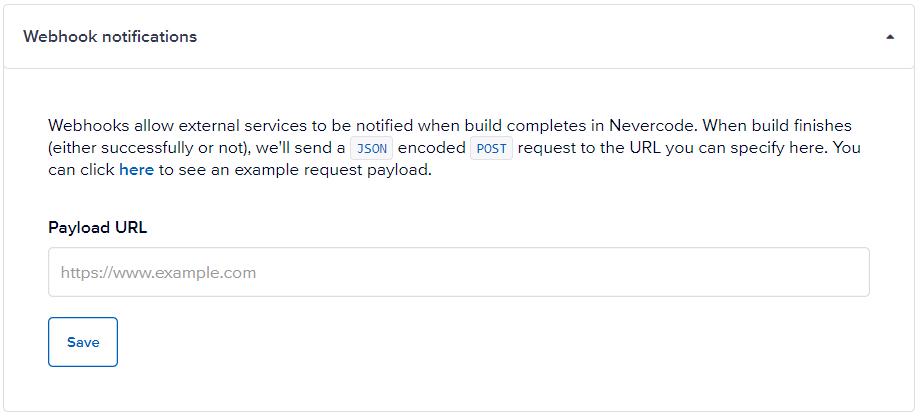 Webhook notifications
