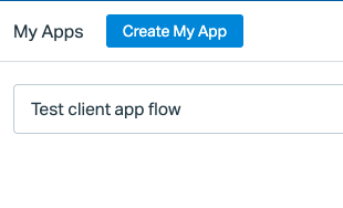 """Select Create My App and give it a simple name (e.g., """"Frame"""")"""