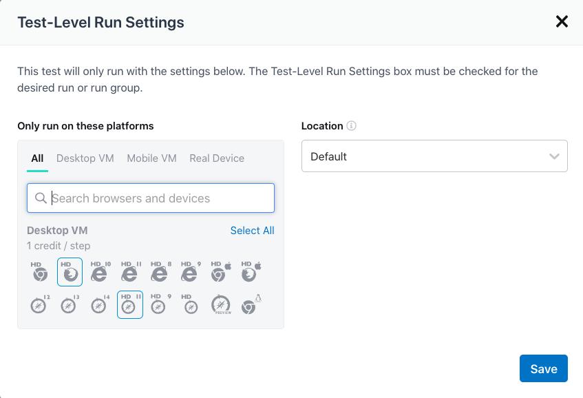 Setting Plain-Text Editor run settings.