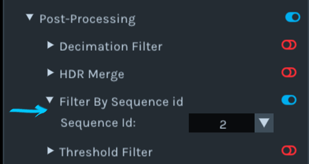Figure 12. Filtering the stream by sequence ID, 1-based