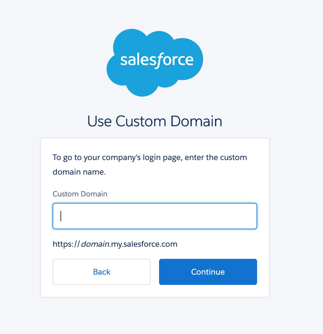 Salesforce domain