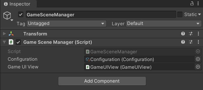 """The """"Configuration"""" and """"GameUIView"""" are passed as references"""