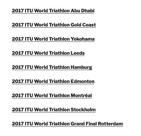 List of all WTS events in 2017