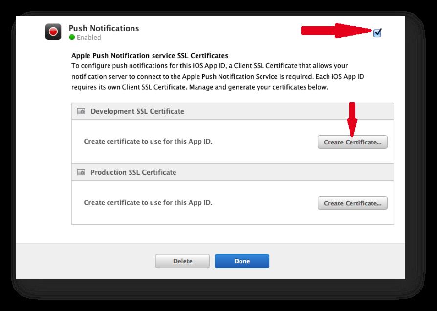 Creating the Development SSL Certificate