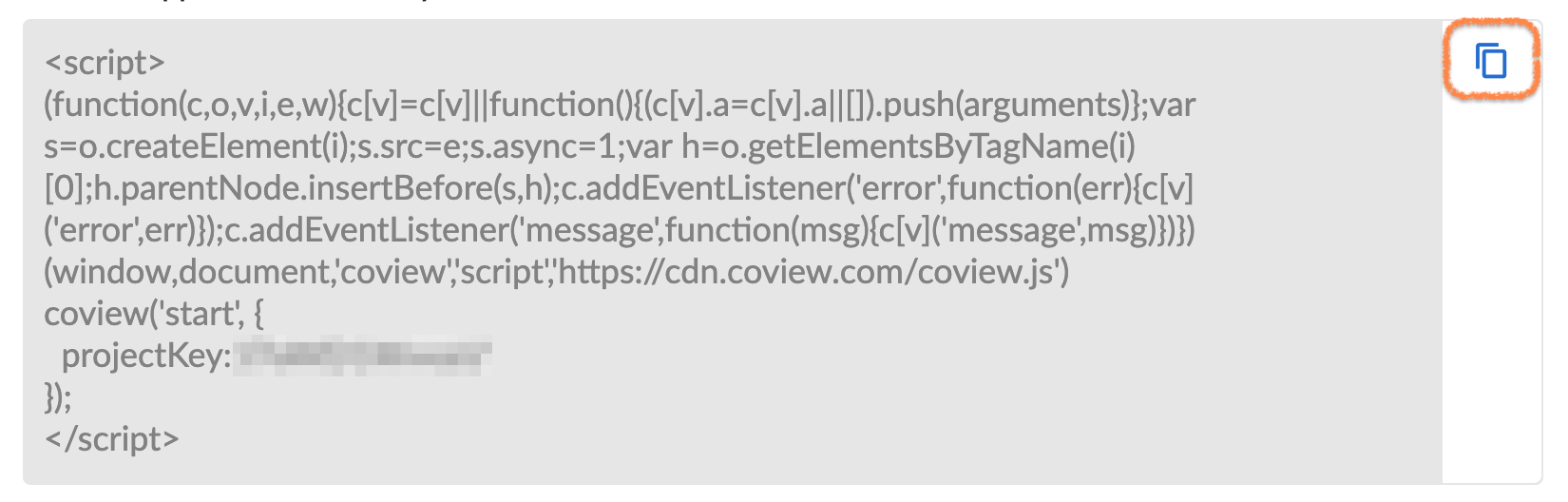 Coview widget code.