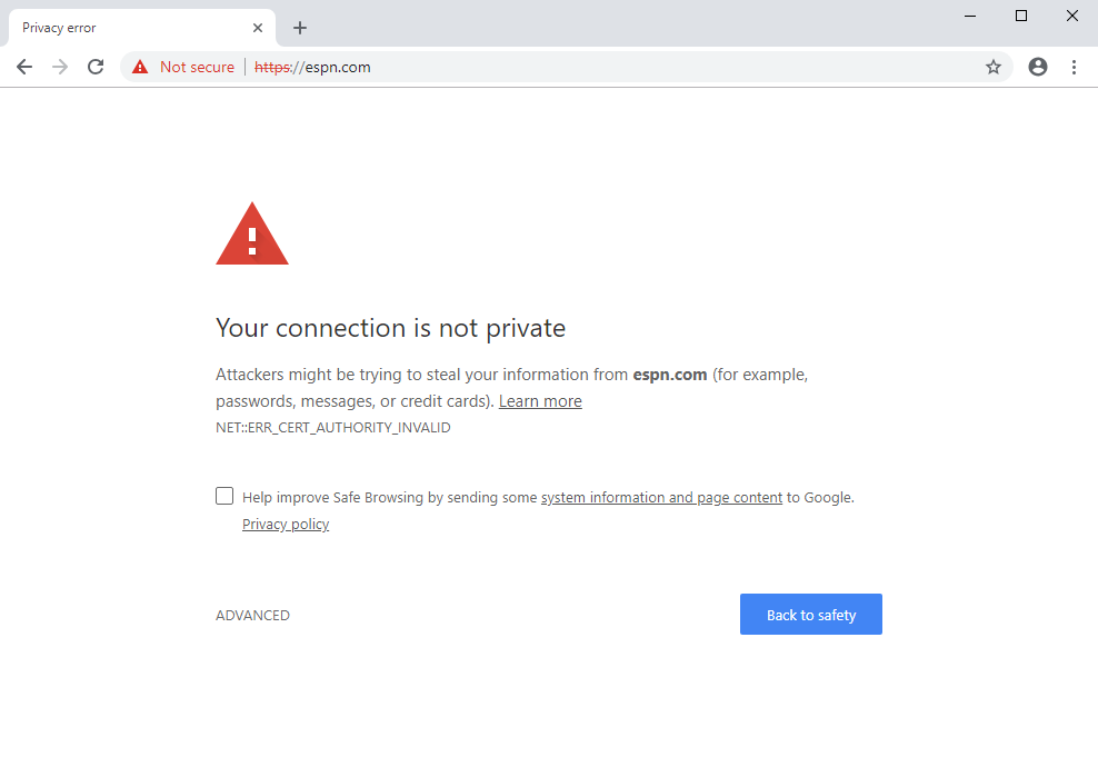 HTTPS/SSL Errors