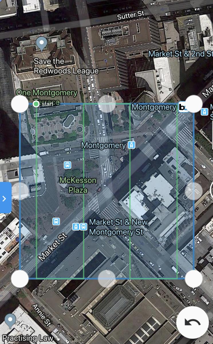 Editing the flight boundaries