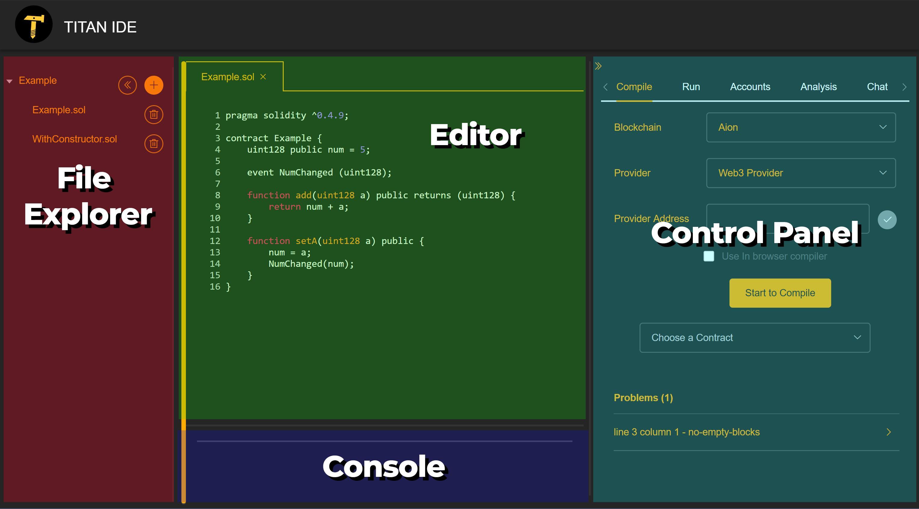 Titan IDE Components