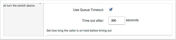 Decide if the call will timeout after a period of time