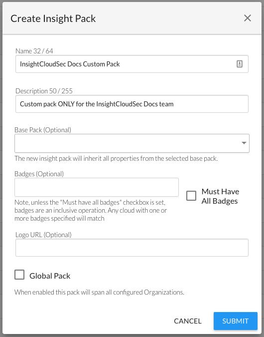 Creating a Custom Insight Pack