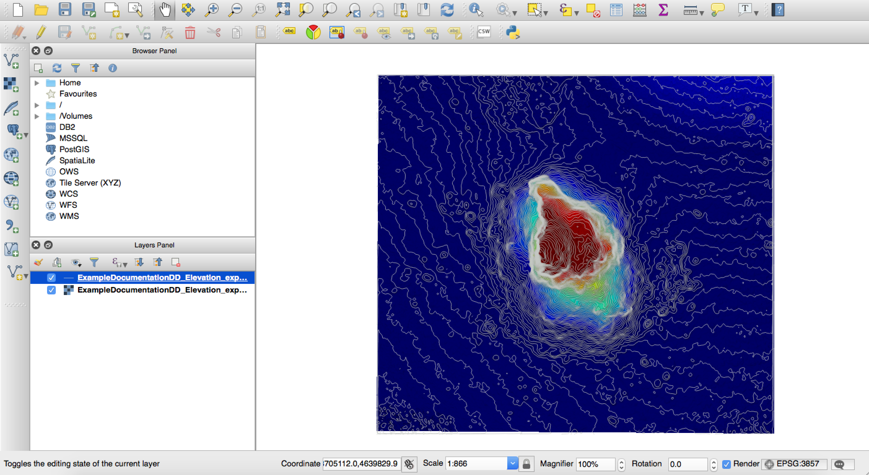 Overlaying Contours in QGIS