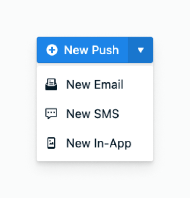 Image. Showing where button is to create a new In-App Message
