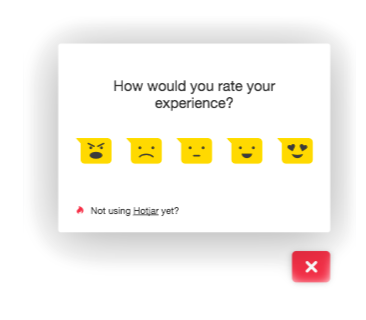 Your visitors can rate your site on a scale from Hate to Love.