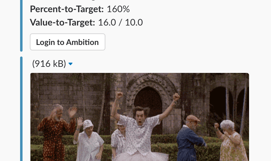 ambition target triggers