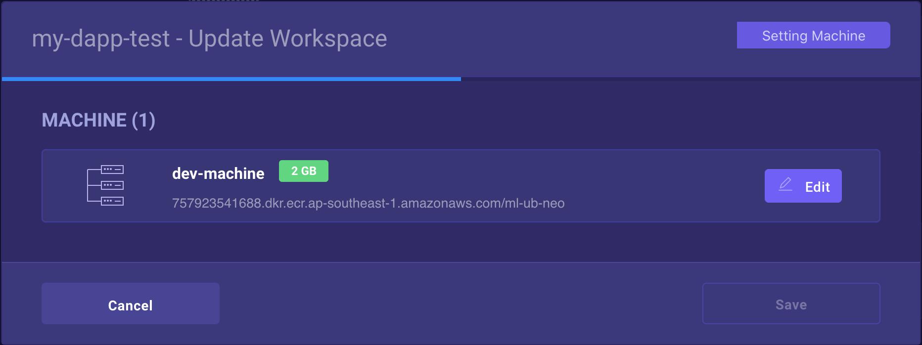 Edit Workspaces in V2.0